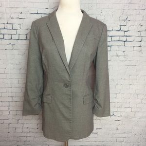The Limited Coat Suit Jacket 3/4 Ruched Sleeve